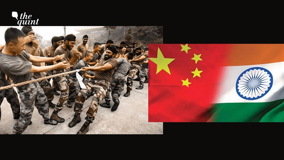 Altered image – India-China troops take part in joint military exercises in China's Sichuan province on November 7, 2013. Image used for representation.