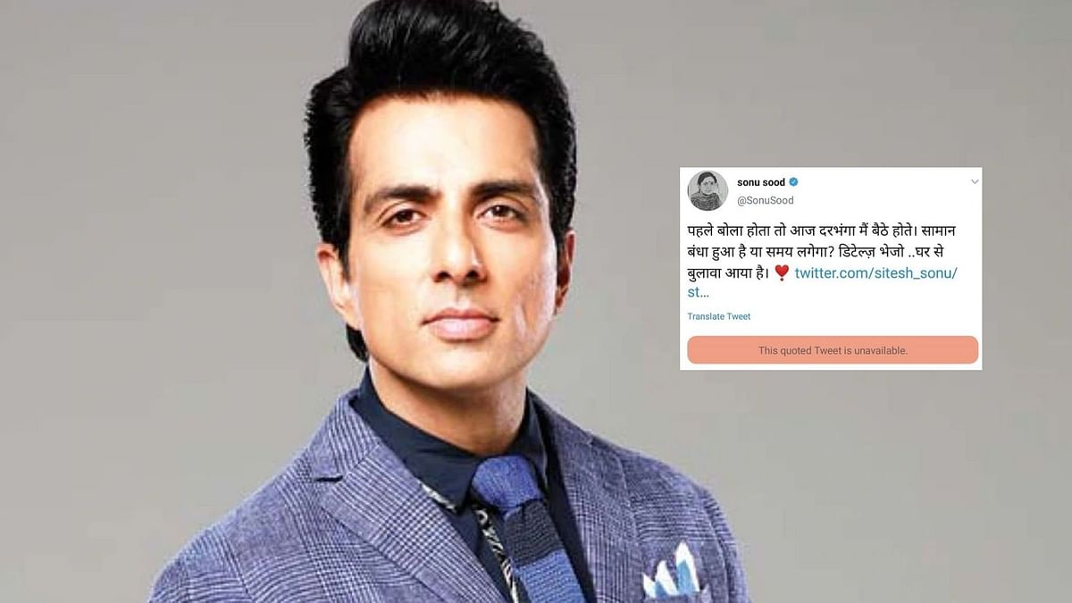 Sonu Sood Responds to the Curious Case of Deleted Tweets for Help