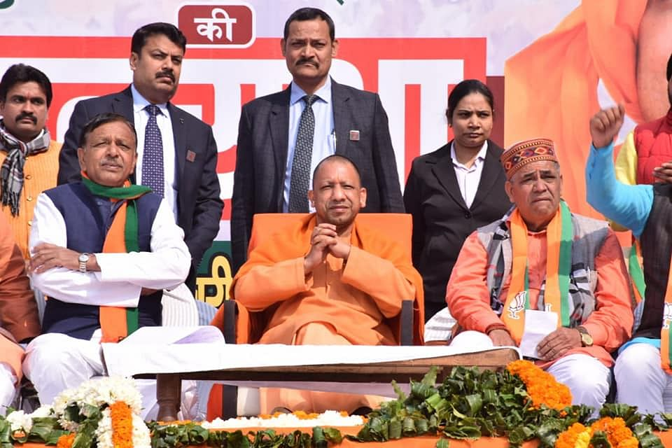 UP CM Yogi Adityanath had campaigned for Jagdish Pradhan (left) and Mohan Singh Bisht (right) during the Delhi Assembly elections