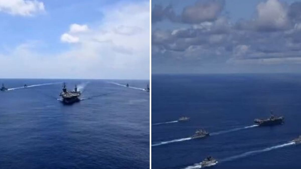 Indian & US Navies Carry Out Drill Amid Tensions With China