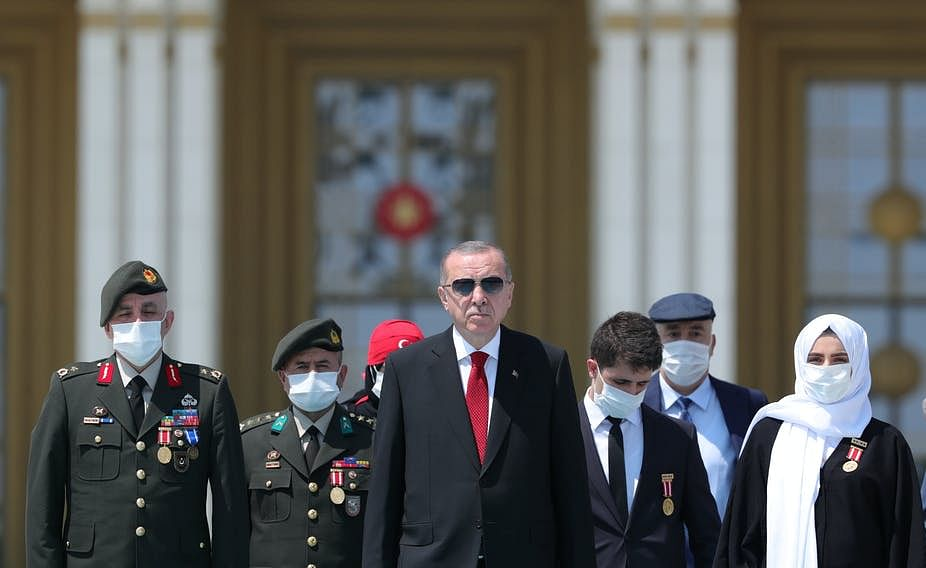 Erdoğan marked four years in July since a 2016 failed coup attempt.
