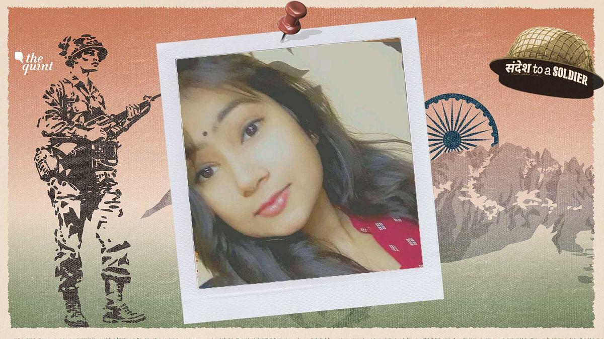 Kanishka Patel sends her sandesh to a soldier.