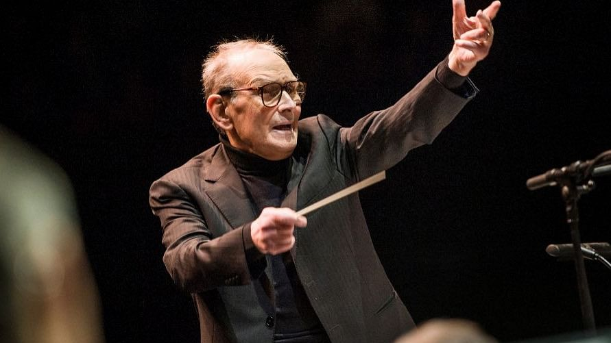 Celebrated Italian composer Ennio Morricone.