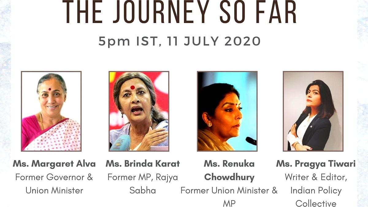 Politicians Margaret Alva, Renuka Chowdhury, and Brinda Karat discuss the journey of the Women's Reservation Bill with Pragya Tiwari.
