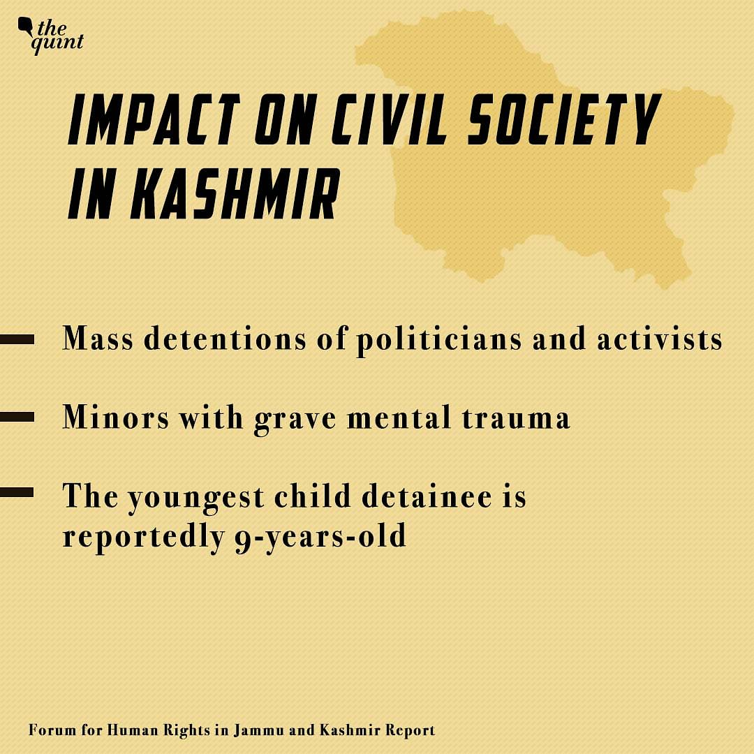 Impact on Civil Society in Kashmir.