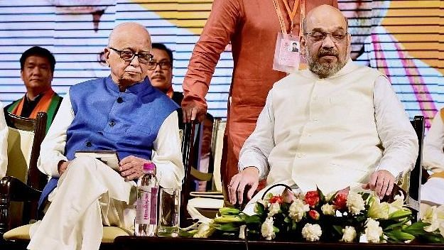 File photo of Amit Shah and LK Advani.