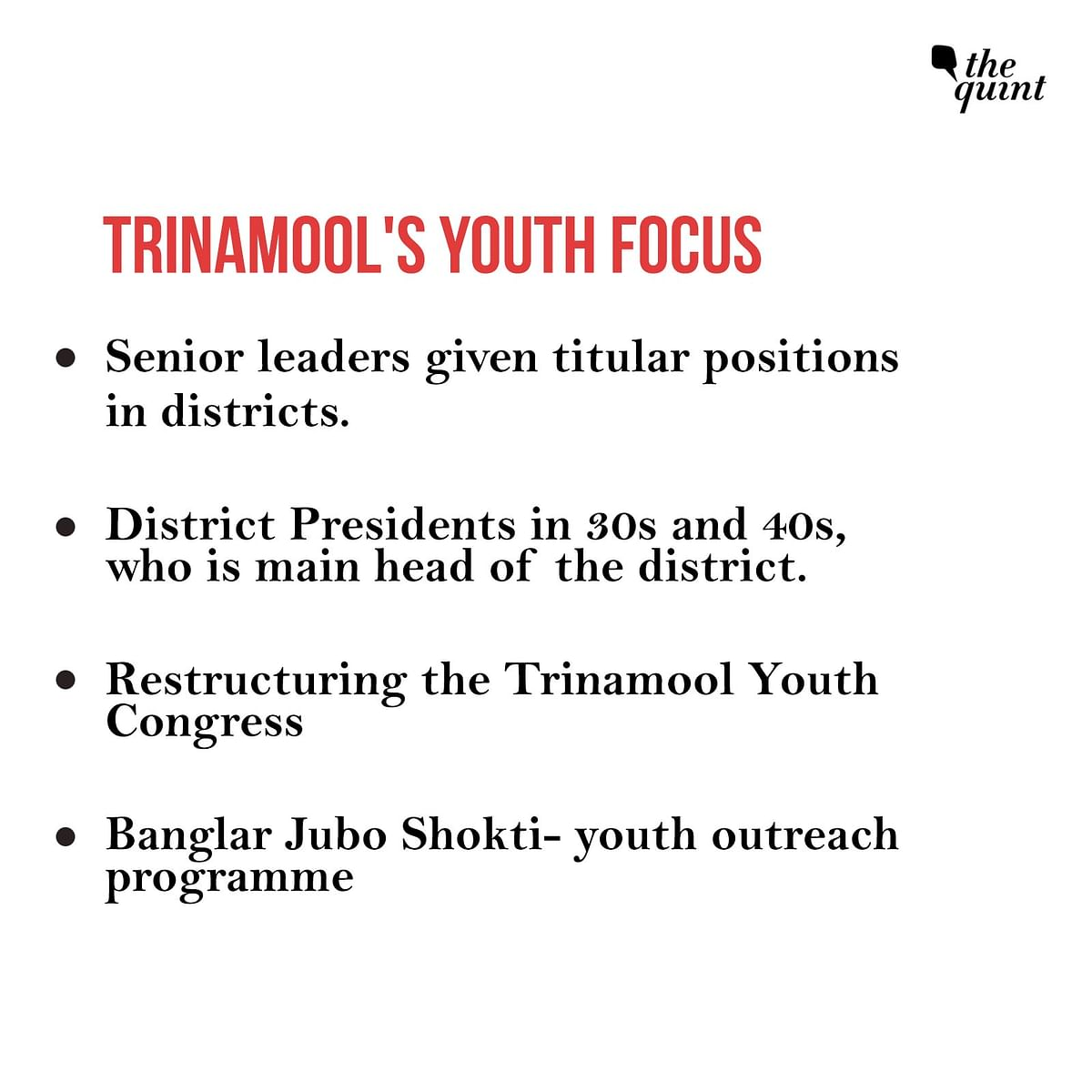 The Trinamool's youth focus.