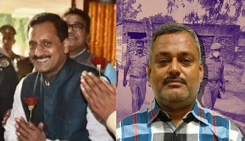 Left: BJP Leader Vikas Dubey. Right: History-sheeter Vikas Dubey.