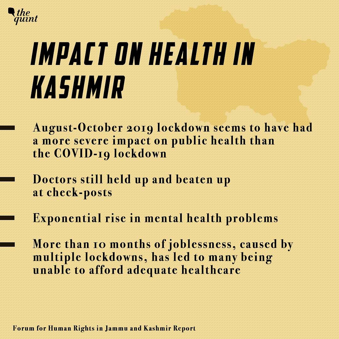 Impact on Health in Kashmir.