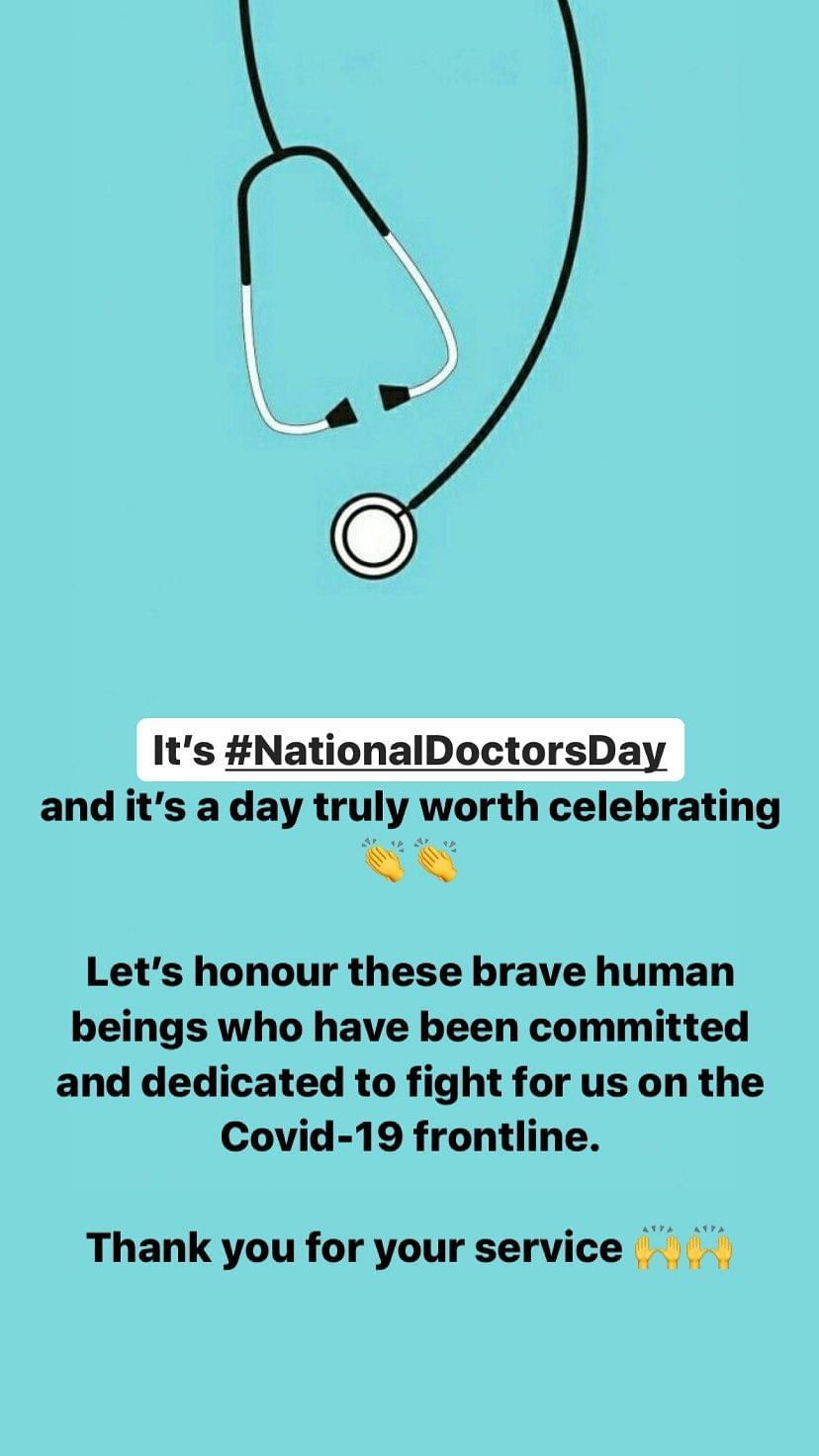 Never Keeping Doctors Away: Tahira Pens Note on Doctors' Day