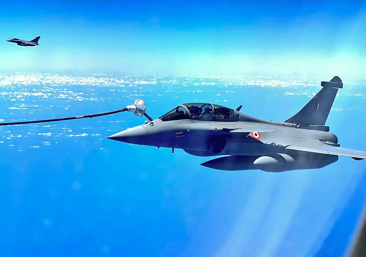 Images of the the Rafale fighter jets being refuelled mid-air, en route Ambala have also emerged.