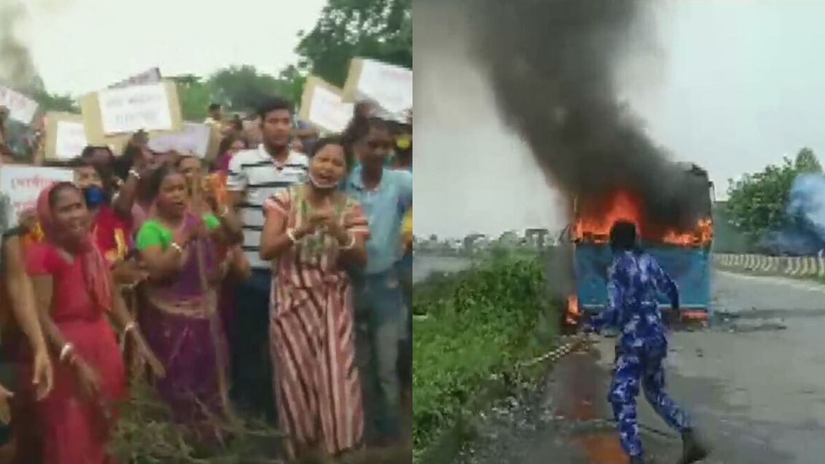 Vehicles Torched in Bengal Over Alleged Gang Rape, Murder of Teen