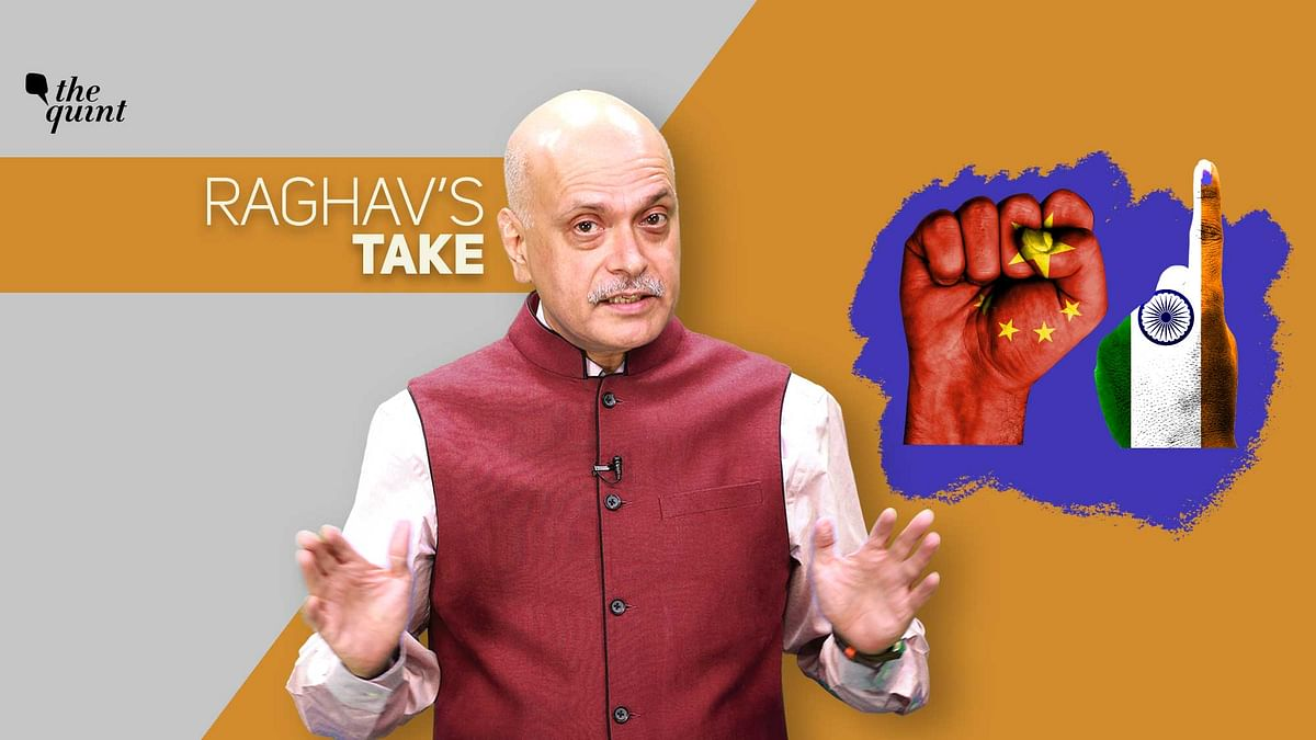Image of The Quint's Founder-Editor, Raghav Bahl, and illustrations depicting Indian democracy and Chinese totalitarianism – used for representational purposes.