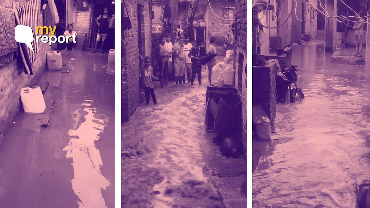 Our Home Flooded in Delhi's Nehru Nagar, Heavy Rain Spoiled Ration