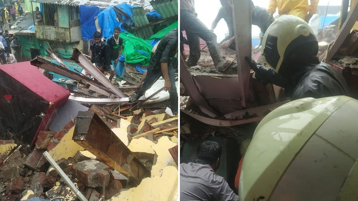 Chawl Collapses in Mumbai's Malad: Two Dead, 13 Others Rescued
