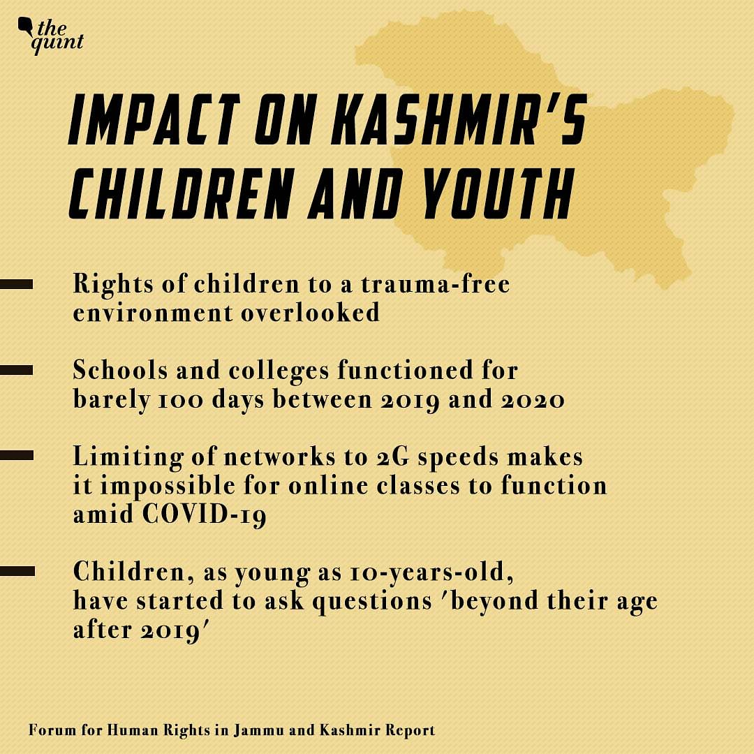 Impact on Kashmir's Children and Youth.