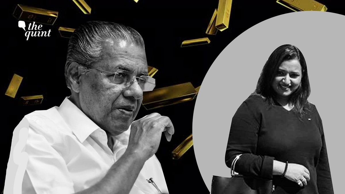 Kerala Chief Minister Pinaryai Vijayan (L) and gold smuggling case accused Swapna Suresh (R).