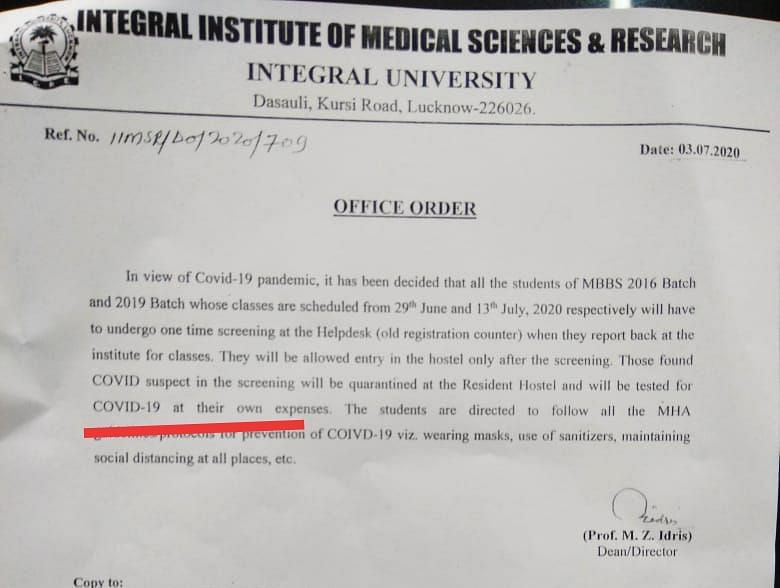 'Why Are Colleges Opening Amid the Pandemic?': UP's MBBS Students
