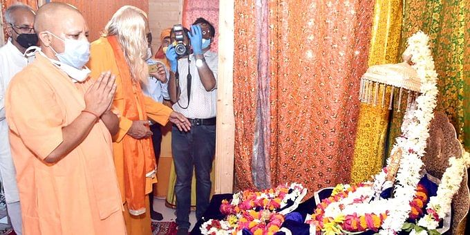 Uttar Pradesh Chief Minister Yogi Adityanath on Saturday, 25 July, offered prayers at the site of the Ram Temple in Ayodhya and took stock of preparations, ahead of foundation laying of the temple on 5 August.