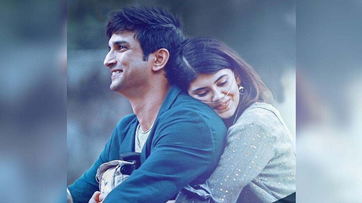 Sushant Singh Rajput and Sanjana Sanghi in a poster from Dil Bechara.