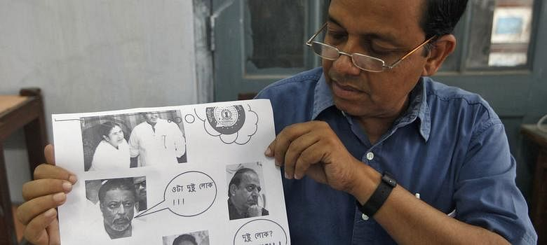 Ambikesh Mahapatra, a professor at Jadavpur University, was arrested by the Mamata Banerjee government in 2012 for circulating a cartoon lampooning the Chief Minister.