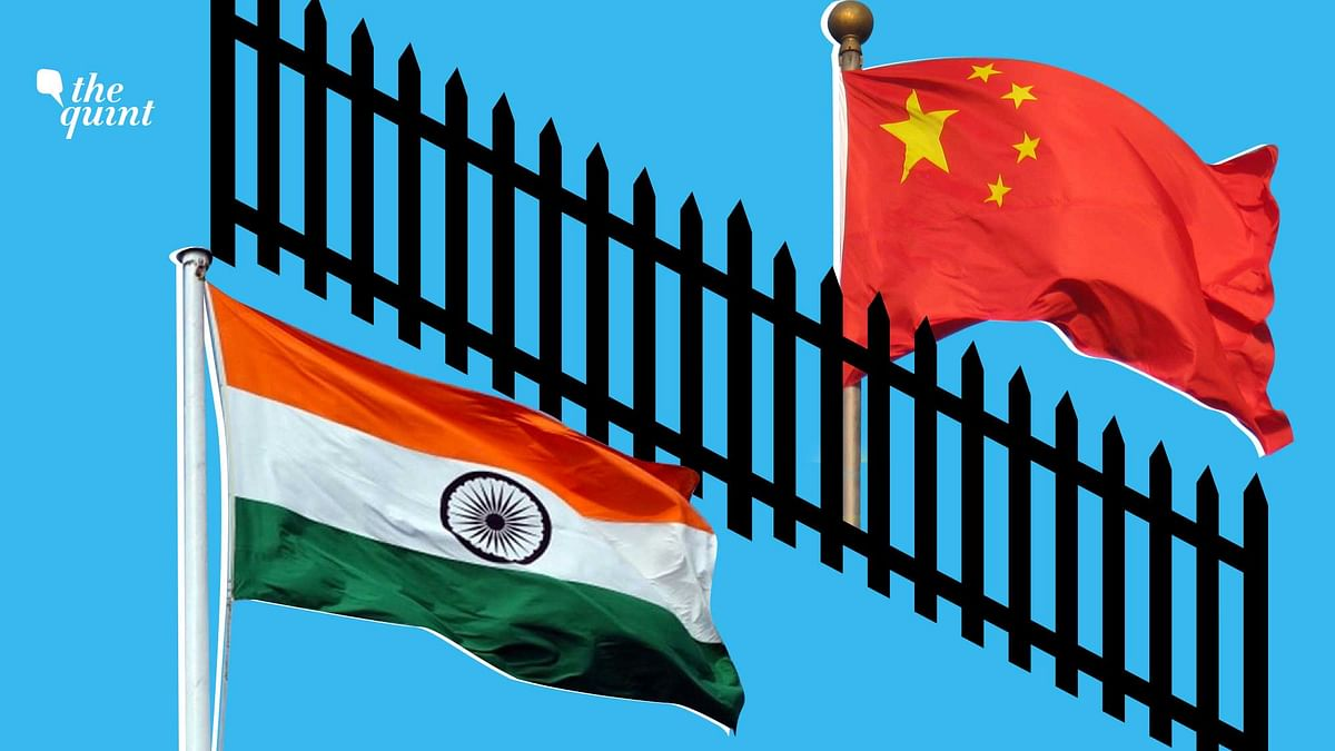 Image of Indian and Chinese flags used for representation.