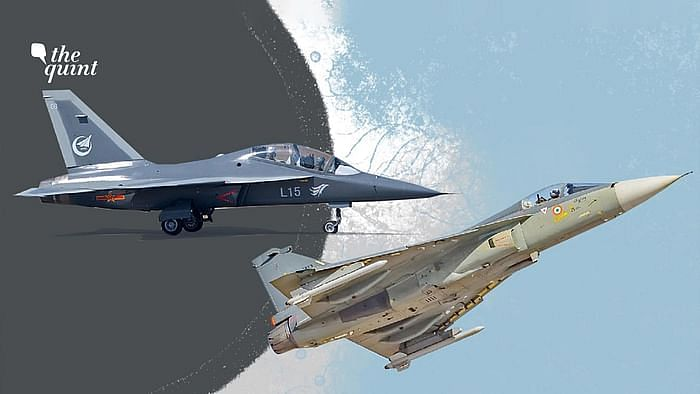 Images of China's PLAAF's Hongdu L-15 aircraft (L) and the Indian Air Force's Tejas aircraft (R) used for representational purposes.