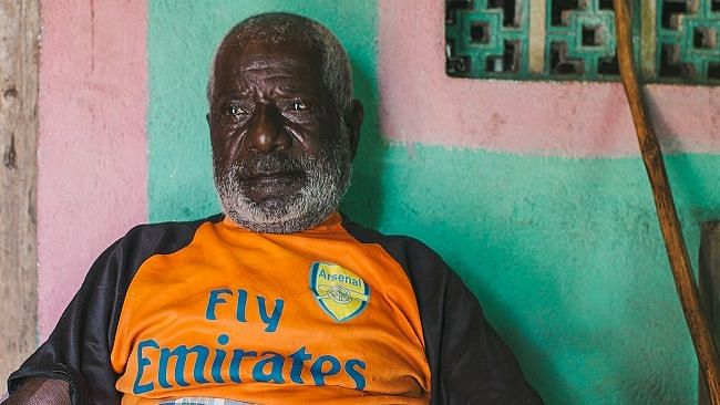 Santhan Juje Siddi (81), one of the oldest members of the community in Uttara Kannada