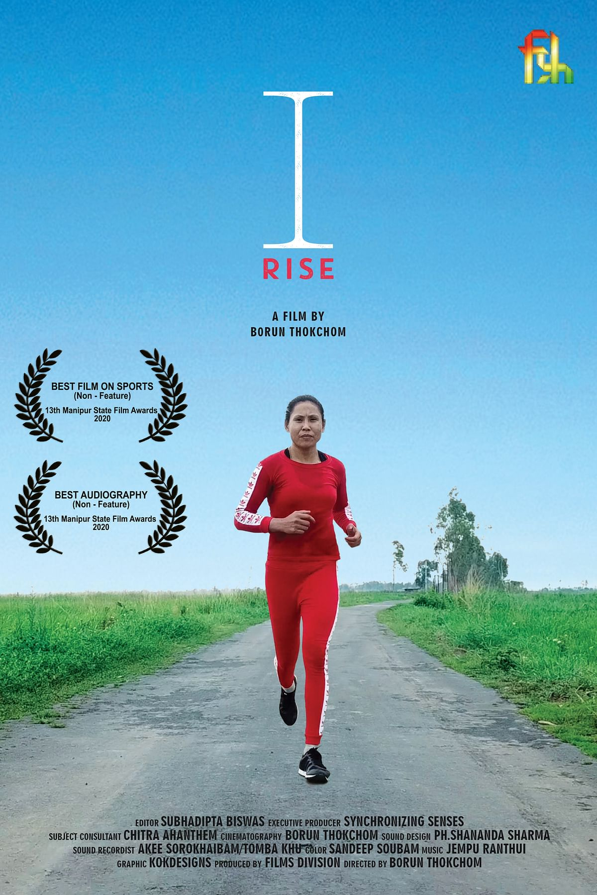 The poster of 'I Rise'