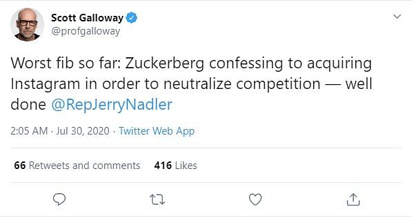 Scott Galloway on Zuckerberg's reply at the hearing.