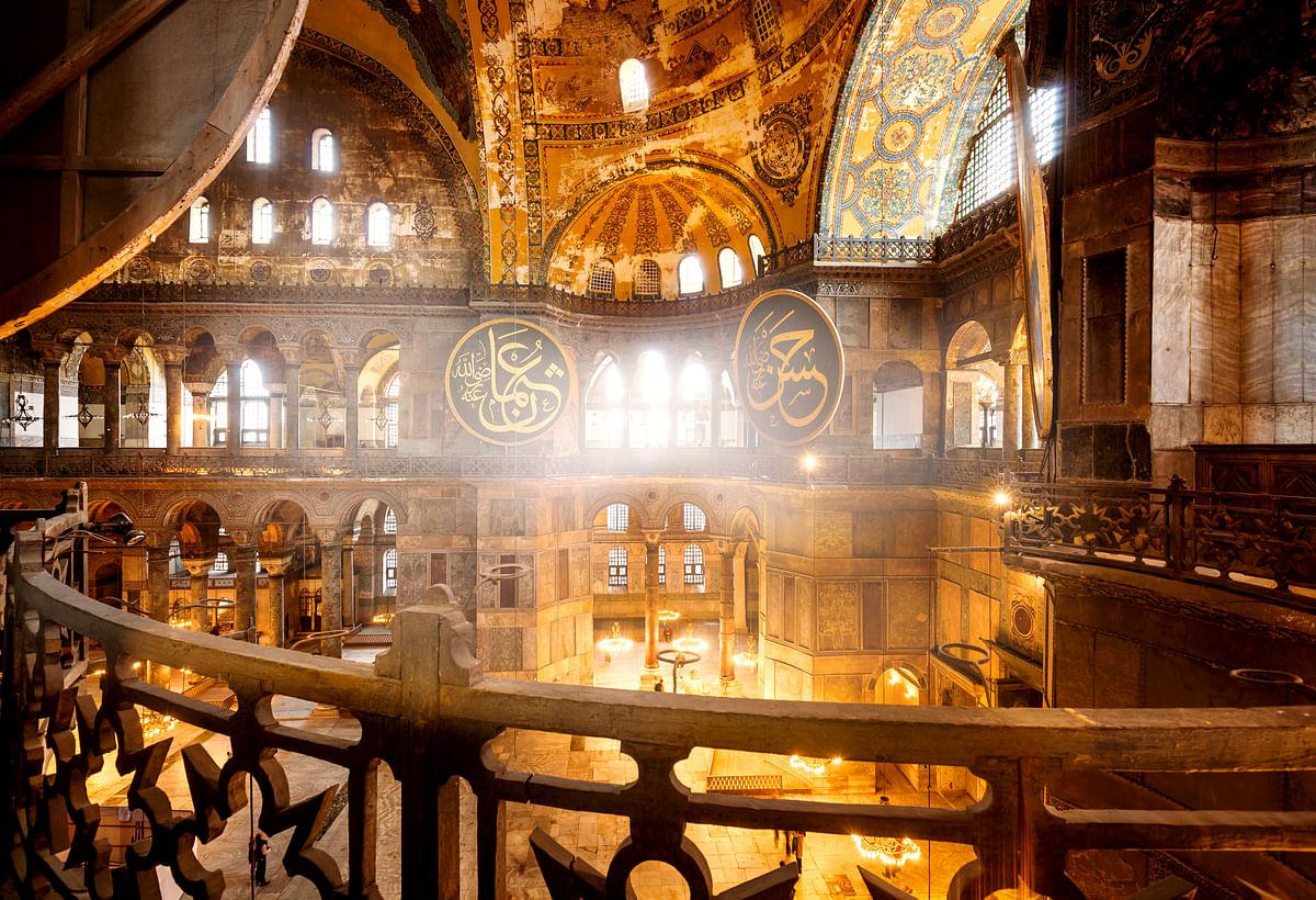 Interiors of Hagia Sophia
