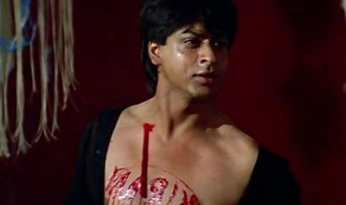 Shah Rukh Khan in a still from Darr.
