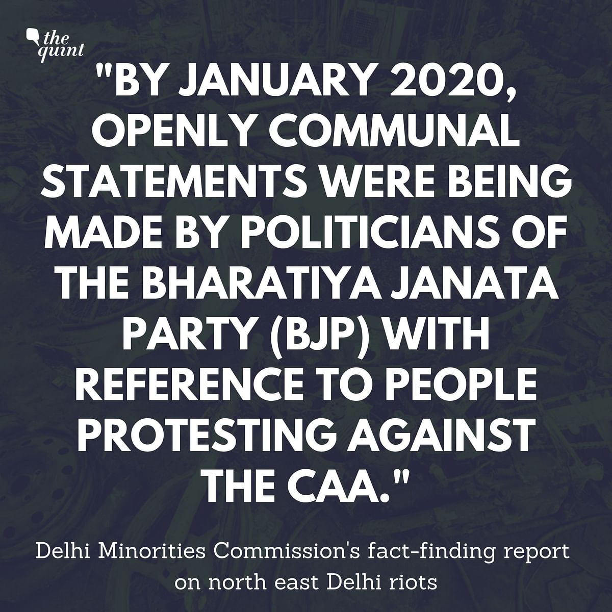 A Different Chronology: Minority Panel's Report on Delhi Riots