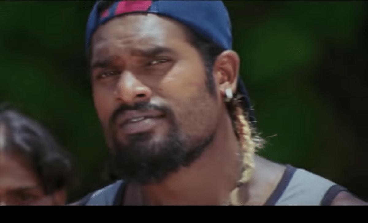 Assistant choreographer Satish Babu in the Tamil film <i>Kanchana</i>.