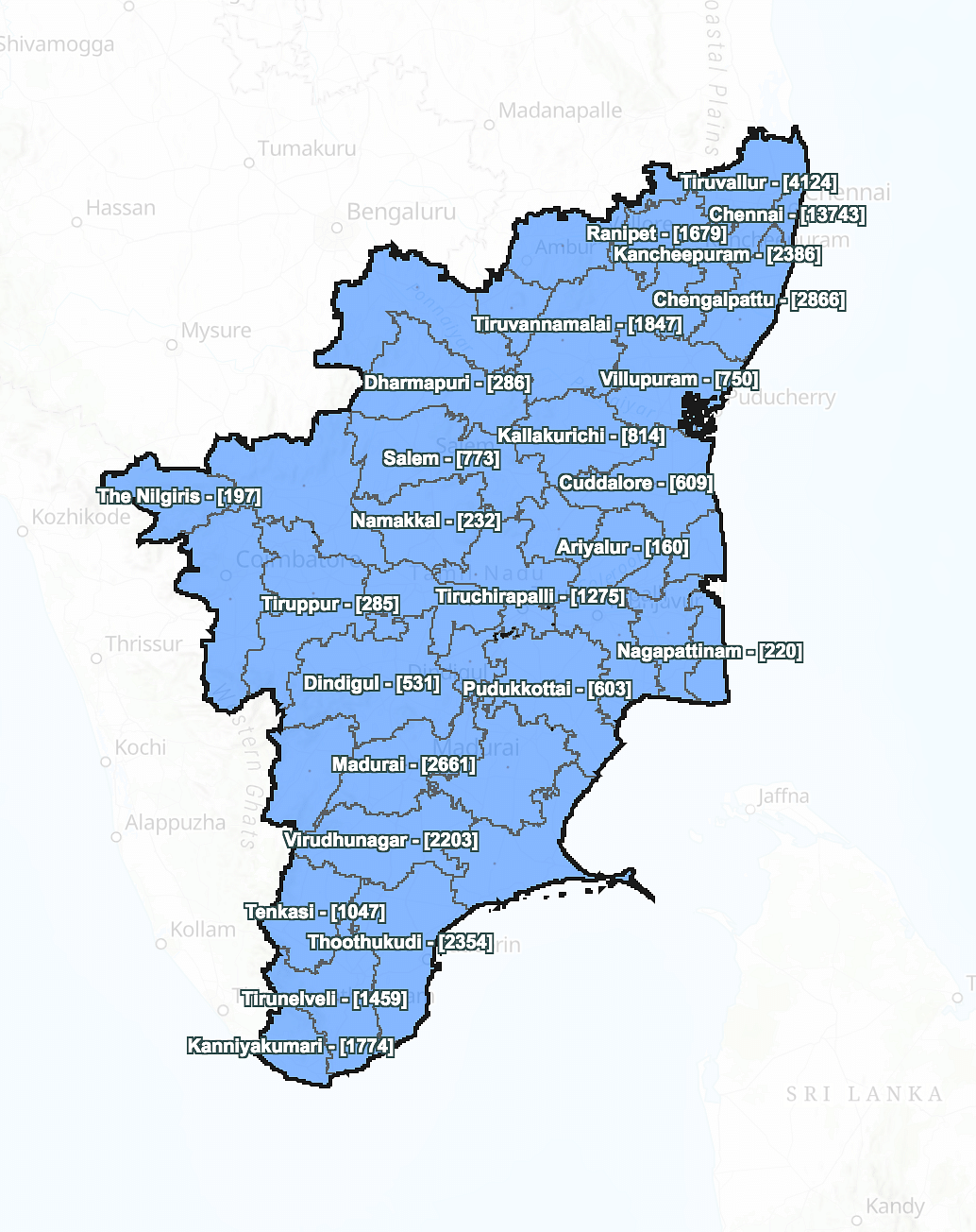 Total active cases in Tamil Nadu as on 24 July