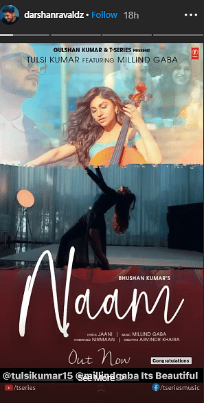 Fans Allege Tulsi Kumar's 'Naam' Is Copied From Darshan Raval