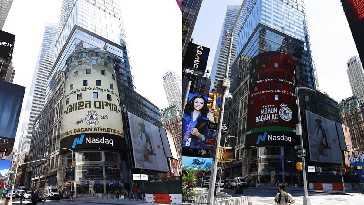 Mohun Bagan  became India's first sports entity to feature on NASDAQ billboard in New York's Times Square.