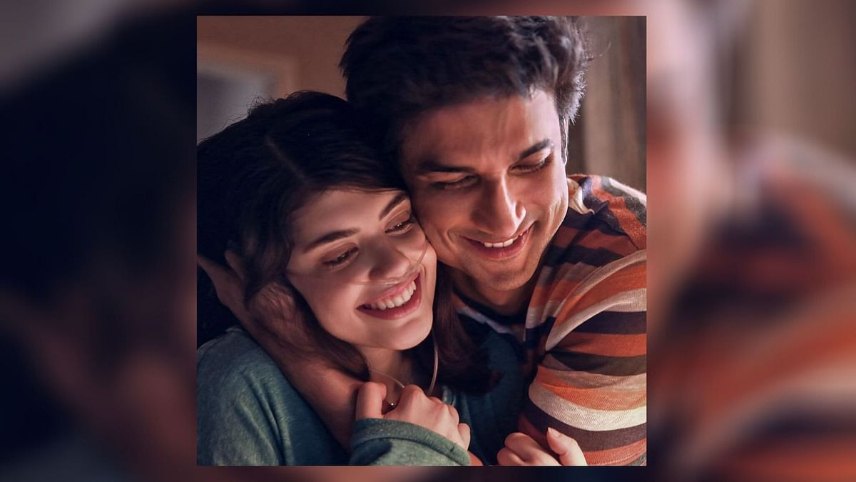 Sushant Singh Rajput and Sanjana Sanghi in a still from Dil Bechara