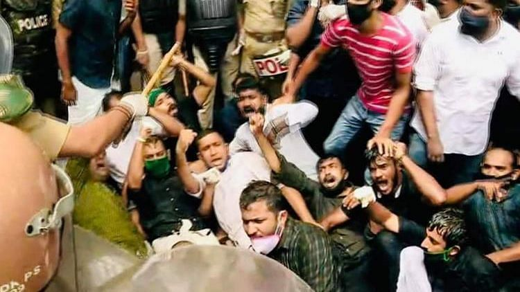 The gold smuggling case in Thiruvananthapuram has triggered massive protests by opposition parties in Kerala, some of which have now turned violent.