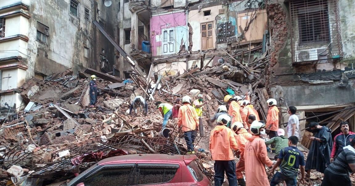 Building Collapses in Mumbai's Fort Area, Rescue Ops Underway
