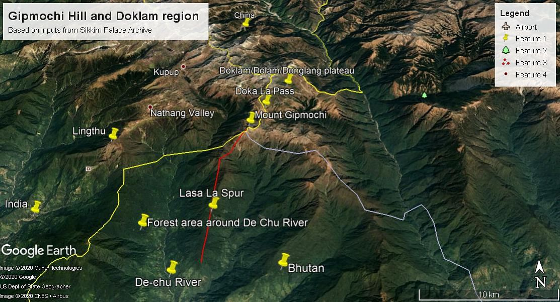 A map based on inputs from Sikkim Palace Archives