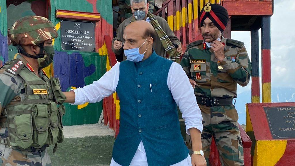 After Ladakh, Rajnath in J&K: Visits Forward Post, Amarnath Cave