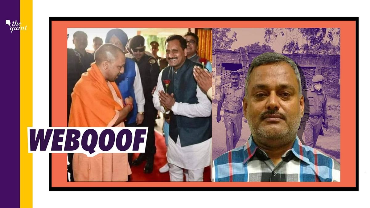 Photo Shows Yogi With BJP Leader Vikas Dubey, Not History-Sheeter