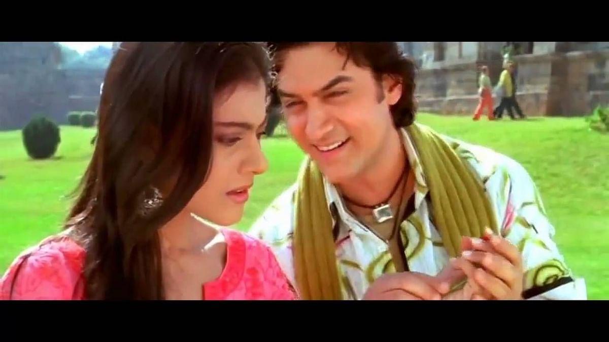 Still from <i>Chaand Sifaarish</i> choreographed by Saroj Khan for Kunal Kohli's <i>Fanaa</i>.
