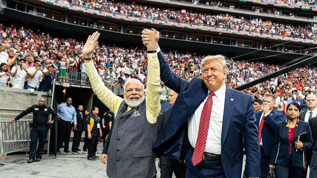 PM Modi and US President Donald Trump at the Howdy Modi event in Houston, Texas.