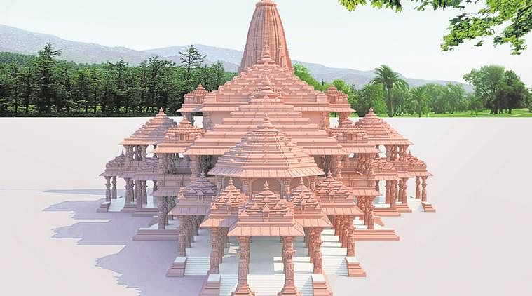 The proposed design for the Ram Mandir.