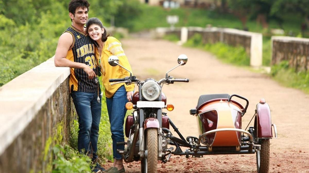 Sushant Singh Rajput and Sanjana Sanghi on the sets of 'Dil Bechara'.