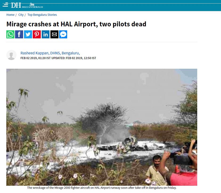Pics From Libya, B'luru Shared as 'Indian Jet Shot Down in Nepal'