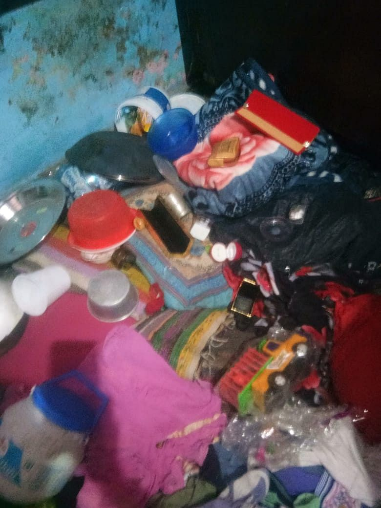 Neha came back to her house to find her belongings broken, strewn across the floor.