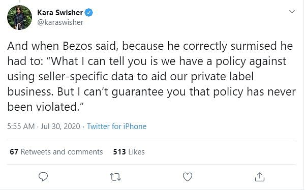 Kara Swisher on Jeff Bezos statement.